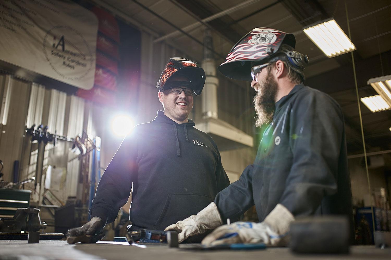 Ahern welders talking