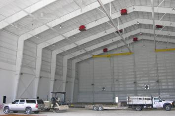 fire suppression for airplane hangers Illinois