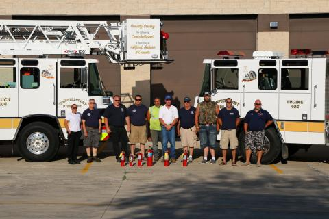 Ahern donates fire equipment to local volunteers